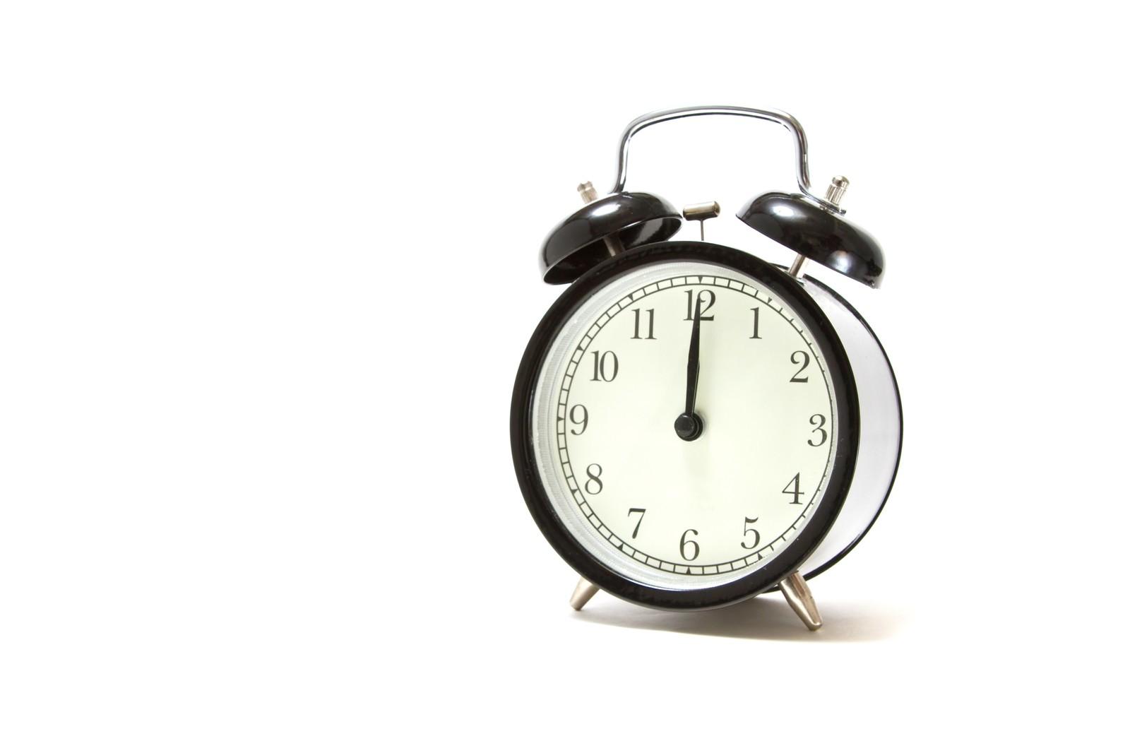 目覚まし時計と時間