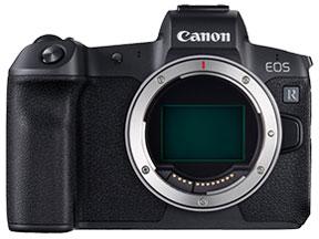 キヤノンのフルサイズミラーレスカメラEOSRのボディ画像