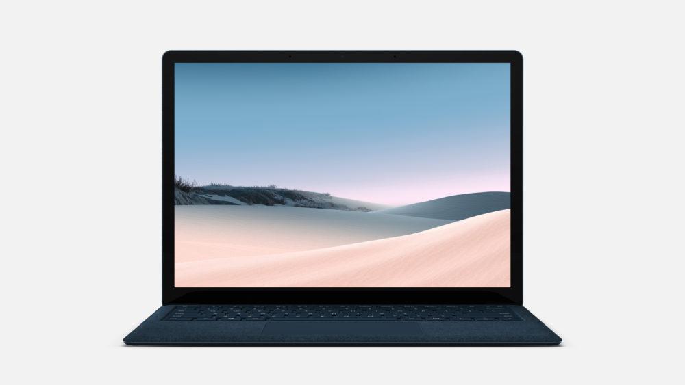 マイクロソフトのSurfaceLaptop3コバルトブルー