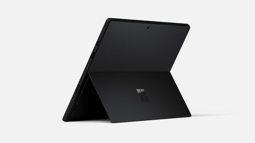 マイクロソフト社のタブレットSurfacePro7ブラックの画像