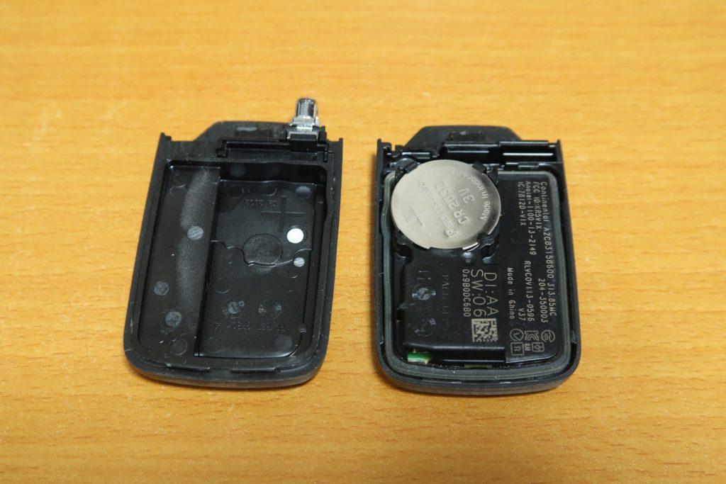 車のスマートキーの電池交換方法記事