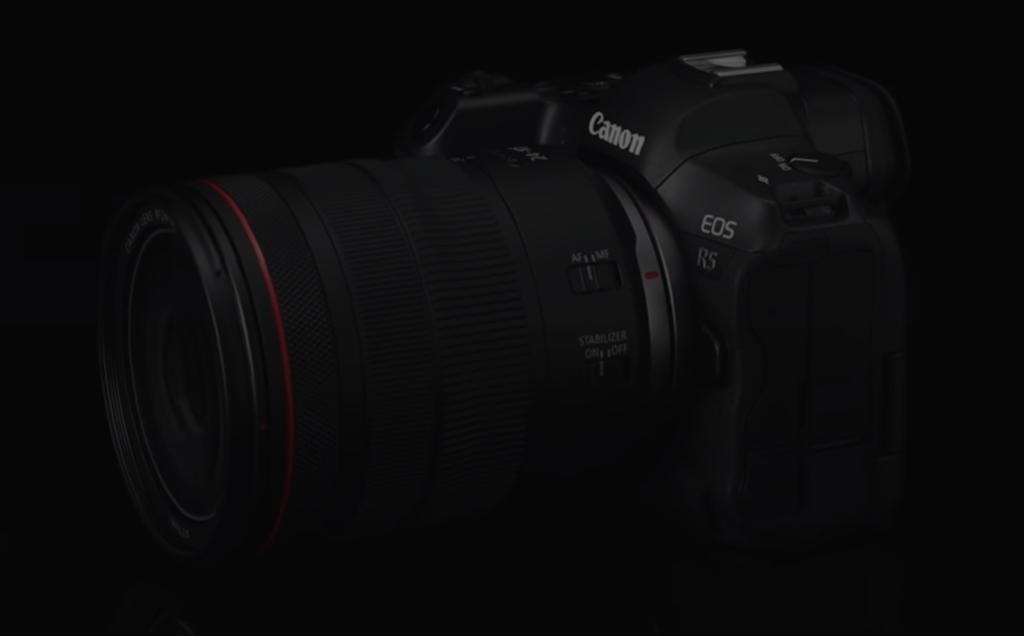 キヤノンのフルサイズミラーレスカメラのハイアマチュア向けモデルEOS R5のイメージ画像