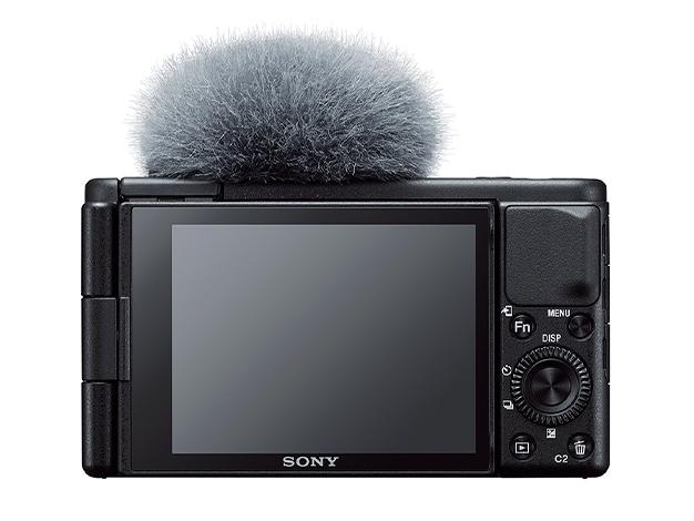 ソニーのカメラZV-1とウインドスクリーン画像