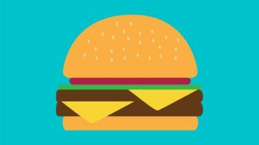 ハンバーガーメニューのイラストイメージ
