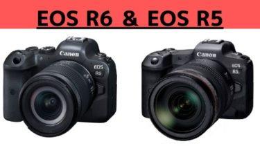 EOS R6とEOS R5のスペック比較と評価まとめ記事イメージ