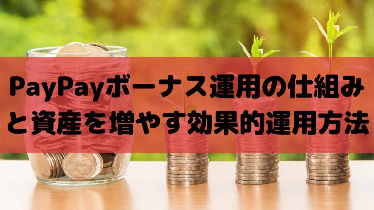 PayPayボーナス運用の仕組みとコツまとめ記事イメージ