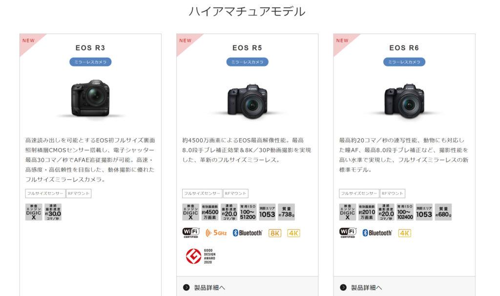EOS R3のハイアマチュアモデルイメージ画像